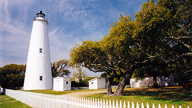 Ocracoke village on the Carolina Outer Banks